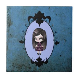 Retro Goth gotische Puppe Keramikfliese