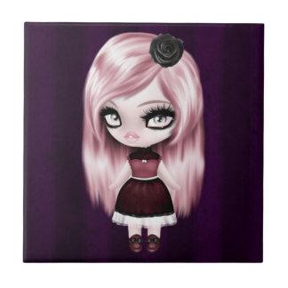 Retro Goth gotische Puppe Kleine Quadratische Fliese
