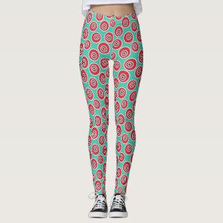 Retro Grafikdesign-Muster Leggings