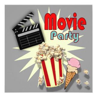 Retro graue Jungen-Film-Geburtstags-Party Karte