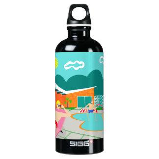 Retro homosexuelle Pool-Party-Wasser-Flasche Aluminiumwasserflasche