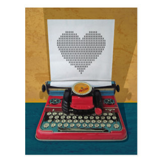 Retro I.T. 50er Vintage Spielzeug-Schreibmaschine Postkarten