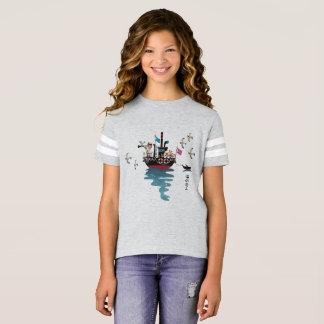 Retro japanische Illustration des Seeliebhabers T-Shirt