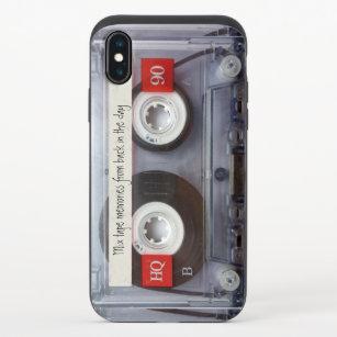 Retro Kassette iPhone X Slider Hülle