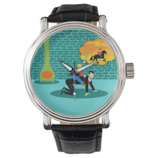 Retro kleine Cowboy-Uhr Armbanduhr