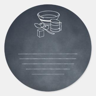 Retro Köche, die Runder Aufkleber