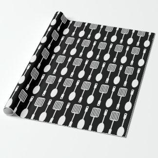 Retro Küchen-Kochgerät-Muster Geschenkpapier