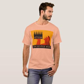 retro Kunst-Deko der Art Flasche-Eau T-Shirt