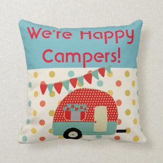 Retro Lagerbewohner-Campings-Kissen - wir sind Kissen