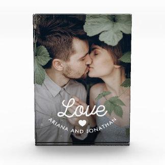Retro Liebe des Text-| mit einem Herzen Fotoblock