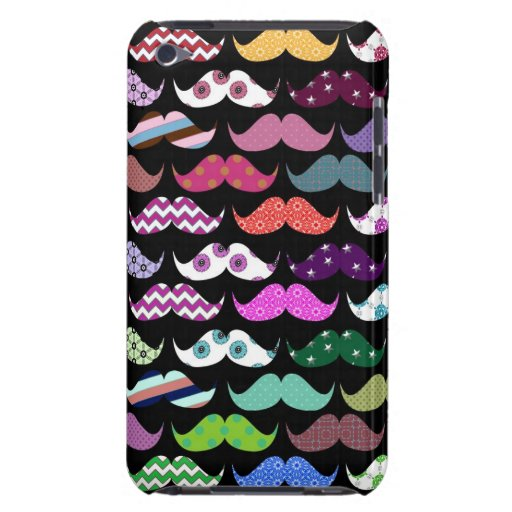 Retro lustiges Girly Schnurrbart-Schnurrbart-Muste iPod Touch Case-Mate Hülle