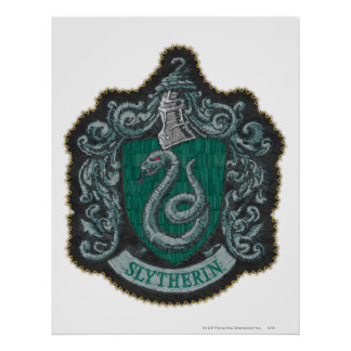 Retro mächtiges Slytherin Wappen Harry Potter | Poster