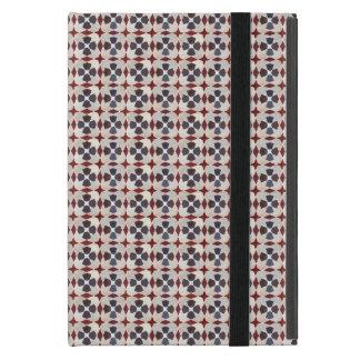 Retro marokkanisches Muster (rot, blau, beige) iPad Mini Hüllen