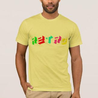 Retro Mehrfarben T-Shirt