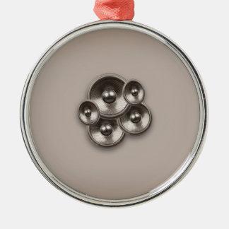 Retro Musik-Lautsprecher Browns Silbernes Ornament