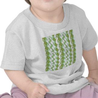 "Retro Muster ""Owen"", grün Hemden"