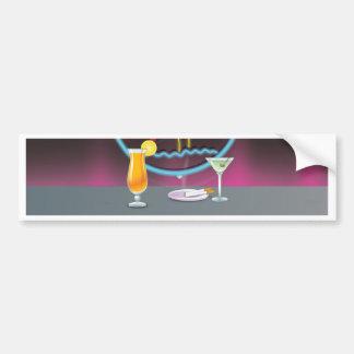 Retro Nachtclub der Cocktails Autoaufkleber
