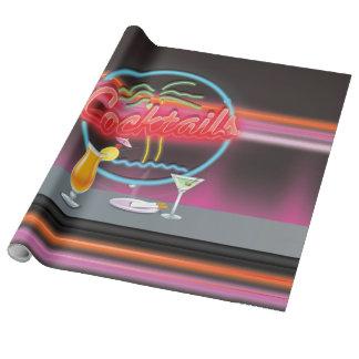 Retro Nachtclub der Cocktails Geschenkpapier