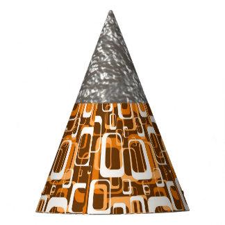 Retro Orange des Musters 1971 Partyhütchen