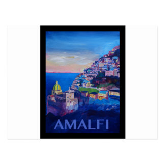 Retro Plakat-Amalfi-Küste Italien Postkarten