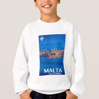 Retro Plakat Malta Valletta - Stadt der Ritter Sweatshirt