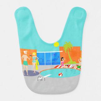 Retro Pool-Party-Baby-Schellfisch Lätzchen