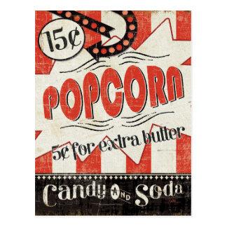 Retro Popcorn Postkarte