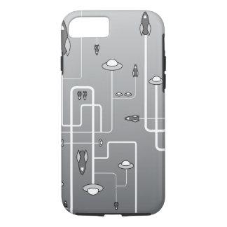 Retro Raum-Flug iPhone 8/7 Hülle