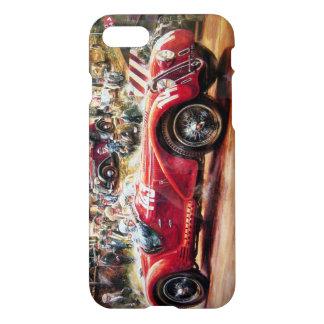 Retro Rennwagenmalerei iPhone 7 Hülle