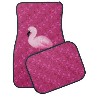 Retro rosa Flamingo-Auto-Matten Automatte