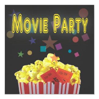 Retro schwarze Film-Geburtstags-Party Einladung