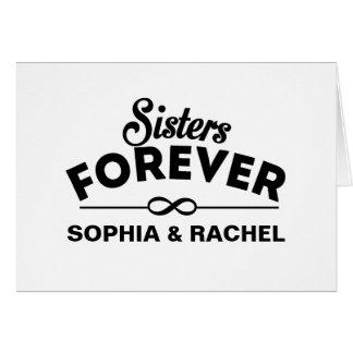 Retro - Schwestern für immer Karte