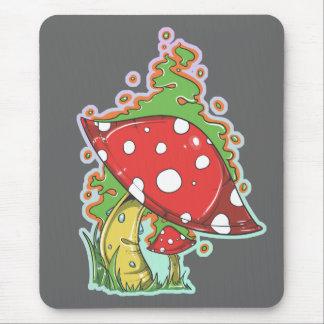 Retro Siebzigerjahre Tätowierungs-Pilz Mauspad