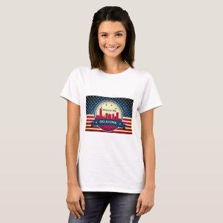 Retro Skyline Oklahoma City T-Shirt