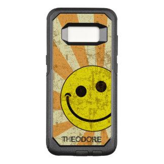 Retro smiley-Sonnendurchbruch-Namen-Schablone OtterBox Commuter Samsung Galaxy S8 Hülle
