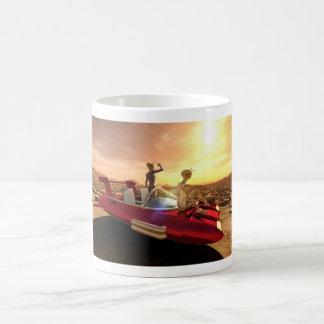 Retro Sonnenuntergang Sci-FI auf Mars Tasse