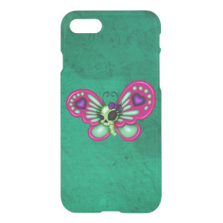 Retro Spaß-Zombie-Schmetterling iPhone 8/7 Hülle