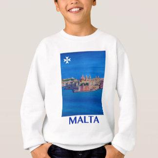 RETRO Stadt PLAKAT Maltas Valletta von KnightsII Sweatshirt