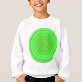 Retro Süßigkeits-Strudel im Limonen Grün Sweatshirt