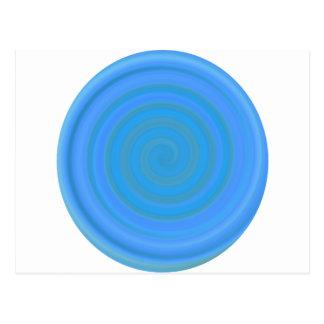 Retro Süßigkeits-Strudel in der Blaubeere Postkarte