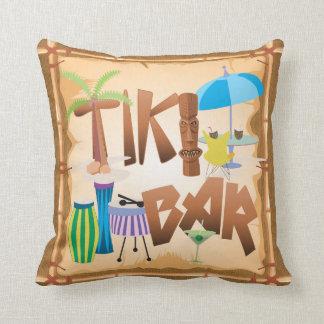 Retro Tiki Bar-Entwurf Kissen