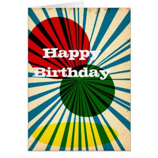 Retro Vintage alles Gute zum Geburtstagkarte Mitteilungskarte