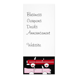 Retro Vintage Auto-rosarotes Vollfarbige Werbekarte