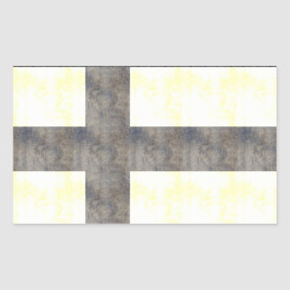 Retro Vintage Finnland-Flagge Rechteckiger Aufkleber