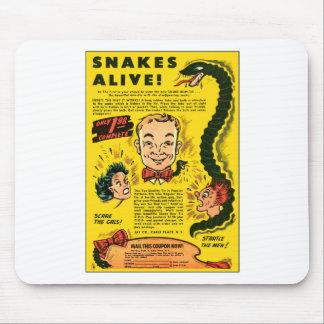 Retro Vintage Kitsch-Comic-Anzeige schlängelt sich Mauspads