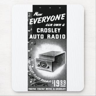 Retro Vintage Kitsch Crosley Autoradio-Anzeige Mousepads