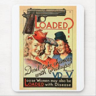 Retro Vintage Propaganda 'Loaded des Kitsch-VD Mauspad