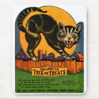 Retro Vintage schwarze Katzen-Süßigkeit Mousepad