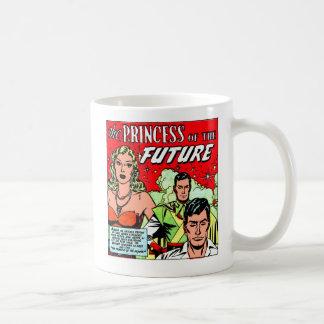 Retro Vintage Sci FI-Comic-Prinzessin der Zukunft Kaffeetasse