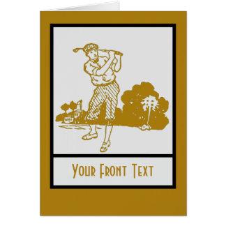 Retro Vintage Spielgolfkunst-Dekoschablone Karte